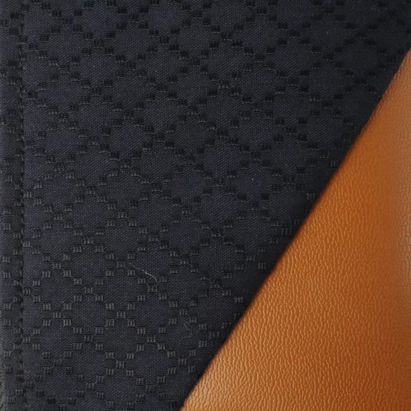 Cotton Emboss Wristlet in Black/Brown Close Up