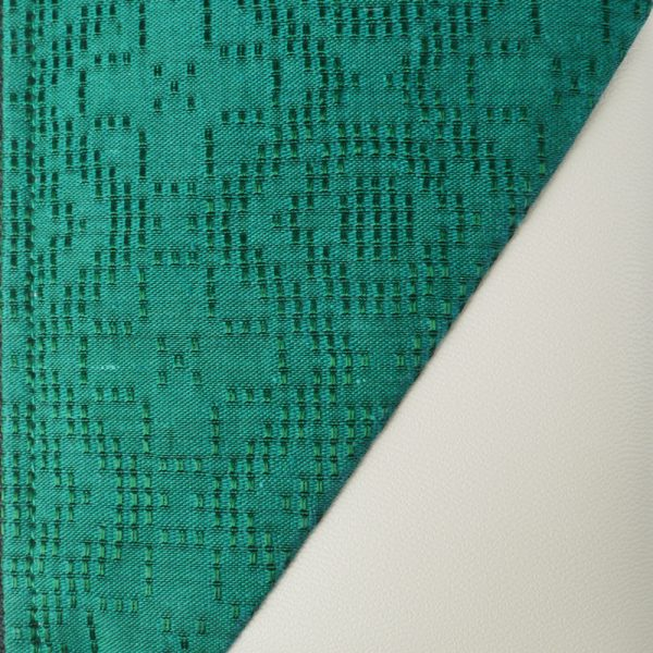 Cotton Emboss Wristlet in Green/White Close Up