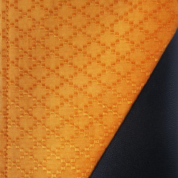 Cotton Emboss Wristlet in Orange/Black Close Up