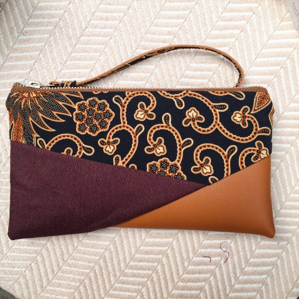 Batik Wristlet in Brown